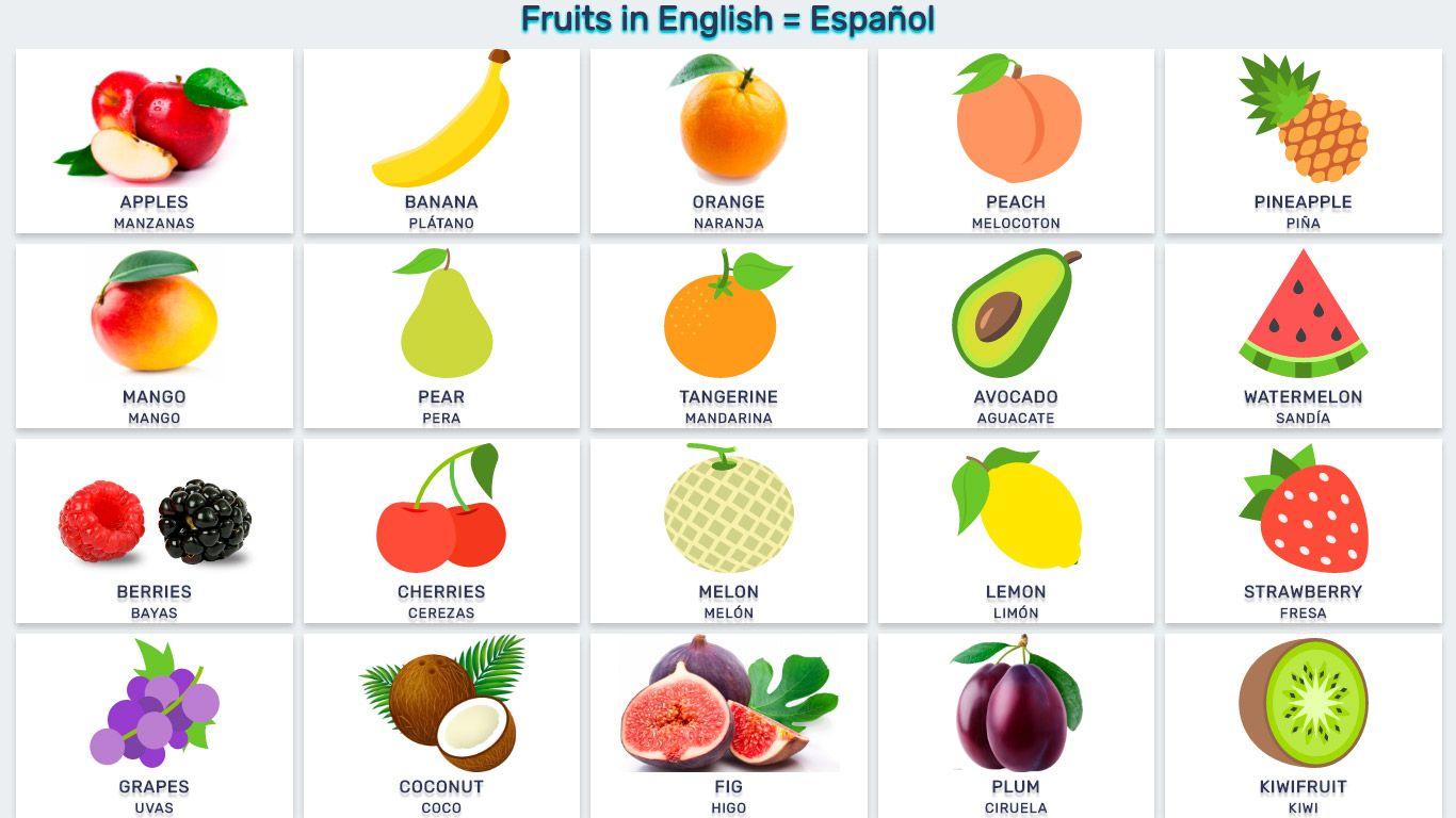 frutas en ingles