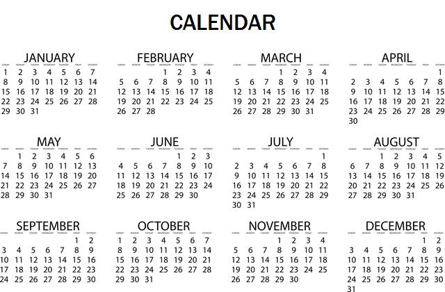Los meses del año en inglés