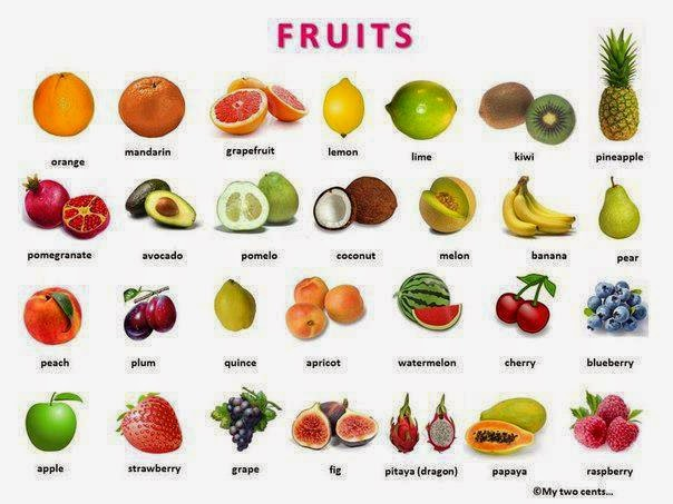 frutas inglesas